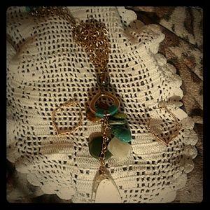 Fashion Jewelry with goldtone chain